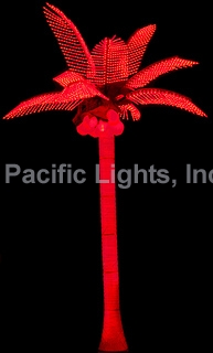 Orange Tiara Coconut Lighted Palm Tree | Products | Pacific Lights Inc.