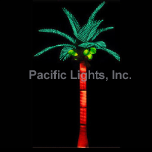 Green Tiara Coconut Lighted Palm Tree | Products | Pacific Lights Inc. ...