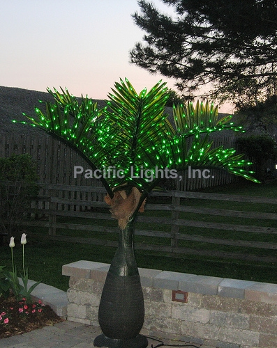 LED Lighted Bottle Palm Tree | Products | Pacific Lights Inc.