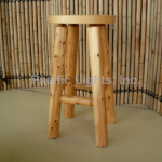 Ontario White Cedar Lodge Stool | Products | Pacific Lights Inc.