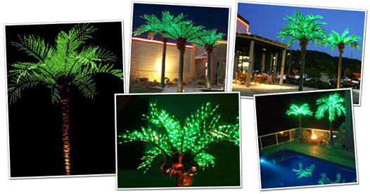 Pacific Lights Inc Led Lighted Palm, Outdoor Led Palm Tree
